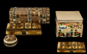 Collection of Boxes, to include ivory, bone etc. Please see images.