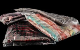 Four Seasonal Ladies Scarves, comprising: Large oversize Scandinavian Christmas print with reindeer;