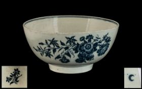 Dr Wall Antique Worcester Blue & White Bowl,