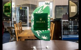 Rolex Official Superb and Original Large Shop Window Display Stand,