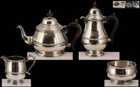 A Superb Quality and Stylish 1920's Matched Sterling Silver - Tea for Two ( 4 ) Piece Tea Service.