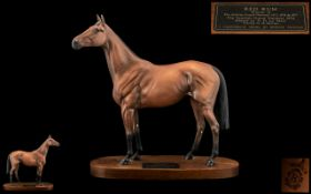 Beswick Hand Painted - Champion Horse Figure ' Red Rum ' Connoisseur Series, Large Size.