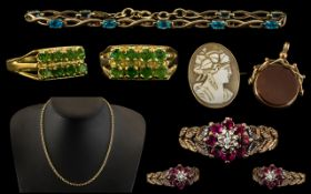 A Collection of 9ct Gold Hallmarked Jewellery ( 6 ) Pieces In Total.