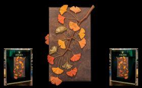 Rolex - Official Superb and Original Medium Size Artwork Shop Window Display Panel Board ' Leafs '
