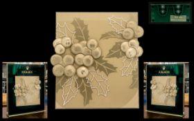 Rolex - Official Superb and Original Medium Sized Artwork Shop Window Display Panel Board -