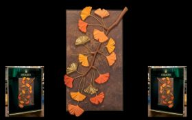 Rolex - Official Superb and Original Medium Sized Artwork Shop Window Display Panel - Board ' Leafs