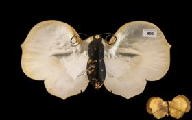 Mother of Pearl Shells Made into the Shape of a Butterfly,