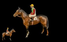 Beswick Hand Painted Seated Jockey and Racehorse Figure ' Horse and Jockey ' Model No 1862,