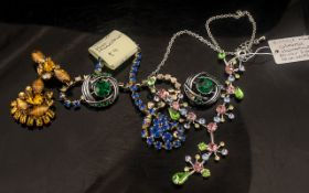 1950s Jewellery, comprising: clip-on earrings,