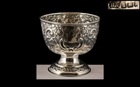 Victorian Silver Bowl, dated for Sheffield 1899, vacant cartouche, 3.