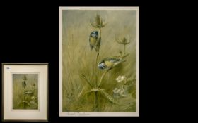 Archibald Thorburn Pencil Signed Print of ' Blue Tits '. Published by W.F.Embleton, Jermyn St,