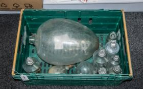 Antique Poison Bottles + Others, Lots of Bottles with Stoppers,