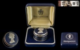 Silver Wedgwood Pill Box.