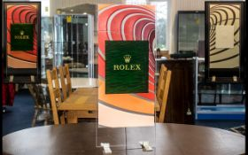 Rolex - Official Superb and Original Large Shop Window Display Stand,