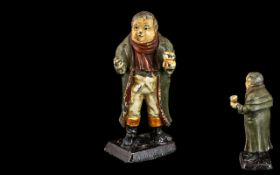 Cold Painted Metal Figure of man in Victorian dress, measures 3'' tall, please see images.