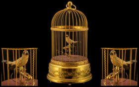Reuge - Swiss Made Superb Quality Musical Key-Wind Automaton Singing Bird Cage, Wonderful Tone.