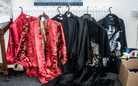 Collection of Oriental Style Kimonos & Shirts, comprising two XL shirts decorated with dragons, a