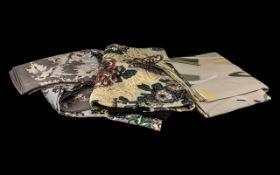 Collection of Klein Vintage Scarves. Three in total, comprising: Anne Klein scarf in fresh