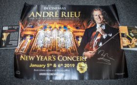 Andre Rieu Music Legend Autographed Cinema Quad. This item is a very rare & special item, and a must