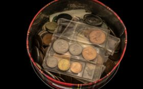Large Collection of British Coins, Consisting of Silver 3 p's, Pennies, 50ps, Crowns, Shillings etc.