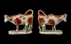 Matched Pair of Antique Staffordshire Co