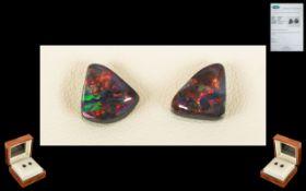Lightning Ridge Loose Black Opals. A pa