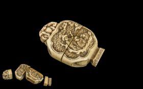 Chinese Antique Carved Ivory Lantern sha
