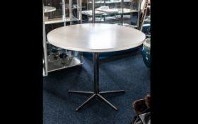 Contemporary Circular White Dining Table