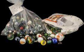 Collection of 500 Marbles Antique/Vintag