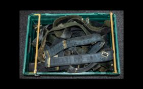 Large Collection of Military Belts. Col