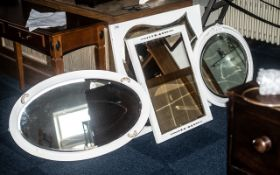 Collection of Four Mirrors in White Pain
