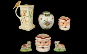 Collection of Pottery large jug, Victori
