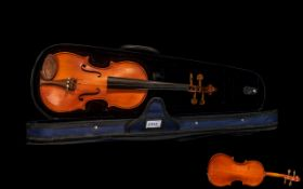 Violin In Blue Velvet Fitted Case, Pleas