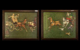 Pair of Cecil Aldin Coloured Prints depi