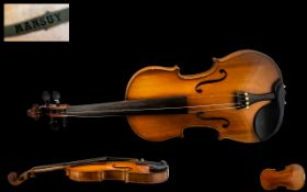 French 1930's Attractive Mansuy Violin,