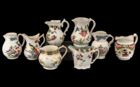 Collection of Eight Royal Worcester Jugs