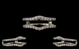 Contemporary Designed 14ct White Gold -