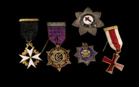 Very Good Collection of Masonic Medals. ( 5 ) In Total. Please See Photo.