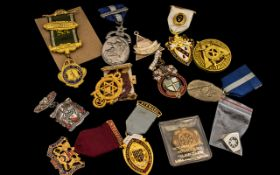 Large Collection of Masonic Medals. ( 12 ) In Total. Please See Photo.