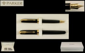 Parker Sonnet - Delux Version Matching Boxed Set of Fountain Pen and Ballpoint Pen,