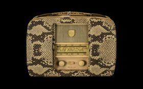 Vintage 1953 Ultra. Elc. Co Twin Portable Radio. c.
