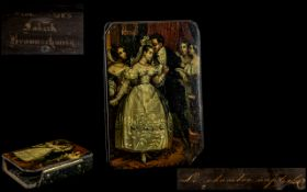 An Early 19thC German Lacquer Snuff Box, by Stobwasser, ,