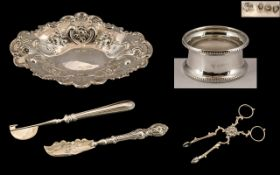 A Good Collection of Small Antique Period Sterling Silver Items and Fully Hallmarked for Silver ( 5