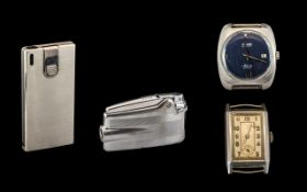 A Small Collection of Lighters and Watches ( 4 ) Pieces In Total.