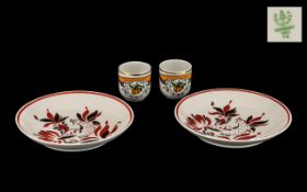 Small Collection of Vintage Hollohaza Porcelain, made in Hungary, comprising: two small plates 14.