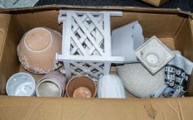Box of 12 Assorted Planters. Please see images.