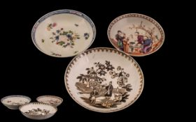 Chinese Famille Rose Bowl and Others. Antique Period Chinese Bowls, Largest being 6 Inches In
