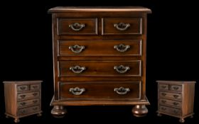 Victorian Period - Fine Quality Mahogany Apprentice Piece Chest of Drawers. c.1880's.