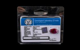 7.20ct Natural Ruby, Earth Mined, Clarity Enhanced. Please See Photo.
