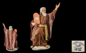 Laszio Ispanky Limited Edition Goebel 'The Ten Commandments' No. 24/250. 40 cms in height. With